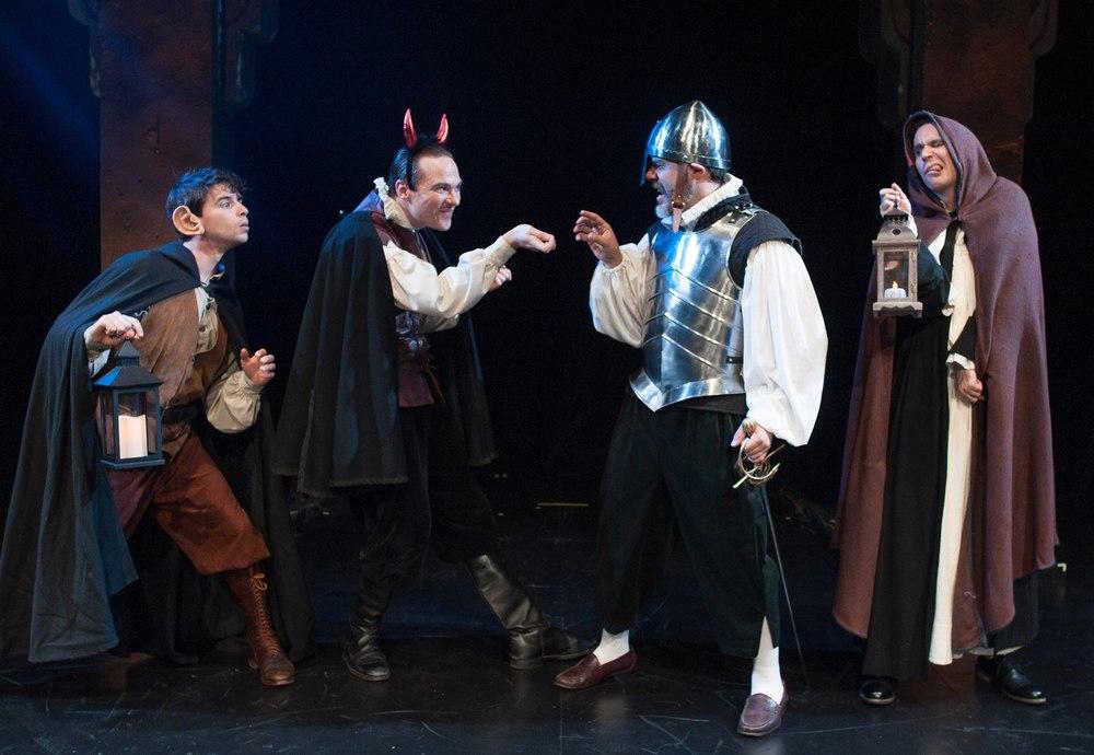 Connor Hammond as Siro, Josh Carpenter as Ligurio, Gregory Isaac as Nicia, Sean Close as Brother Timothy