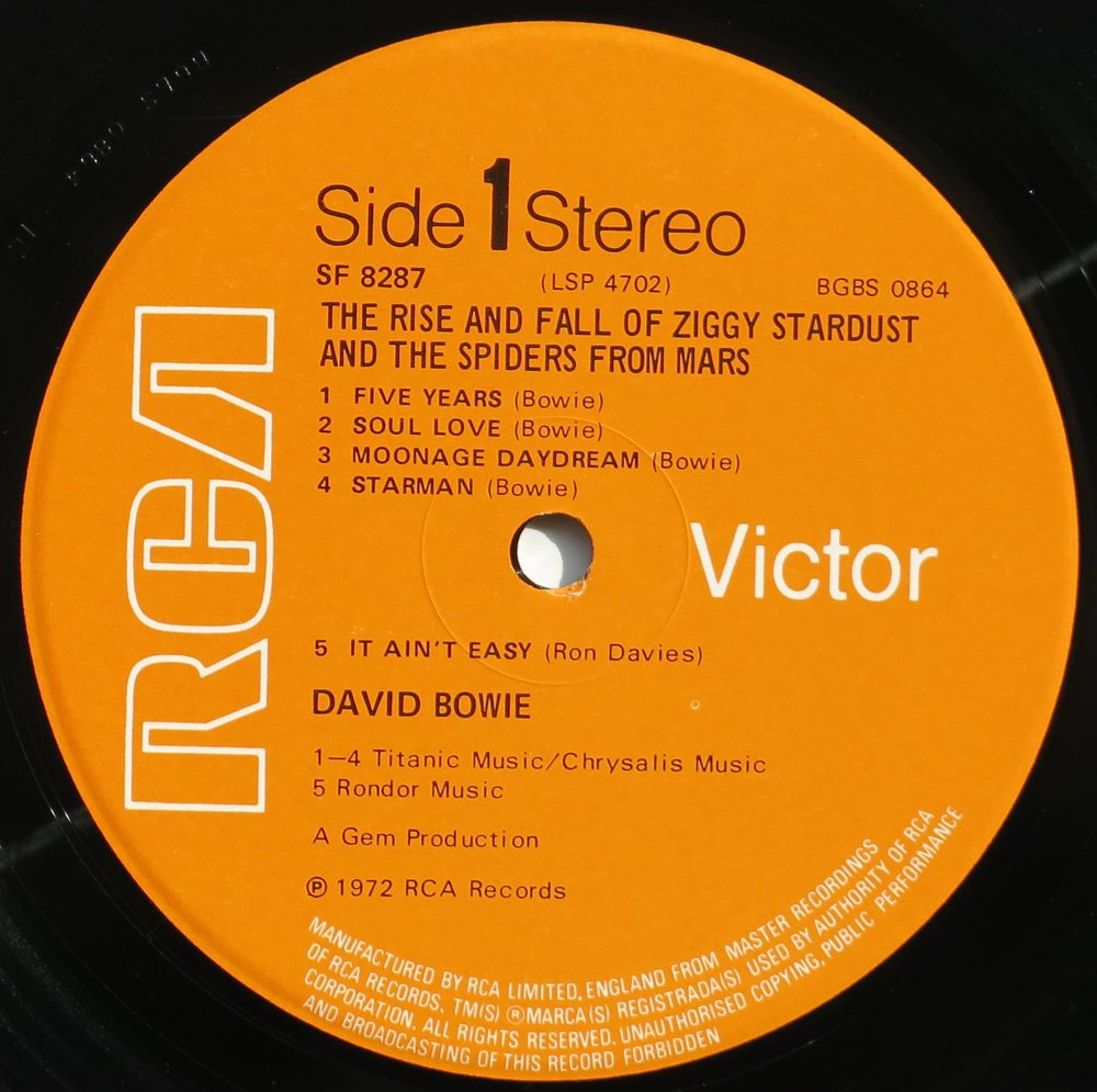 "David Bowie, ""The Rise and Fall of Ziggy Stardust, Side One, 1972 - Which is NOT one of the years I had to research for the play."