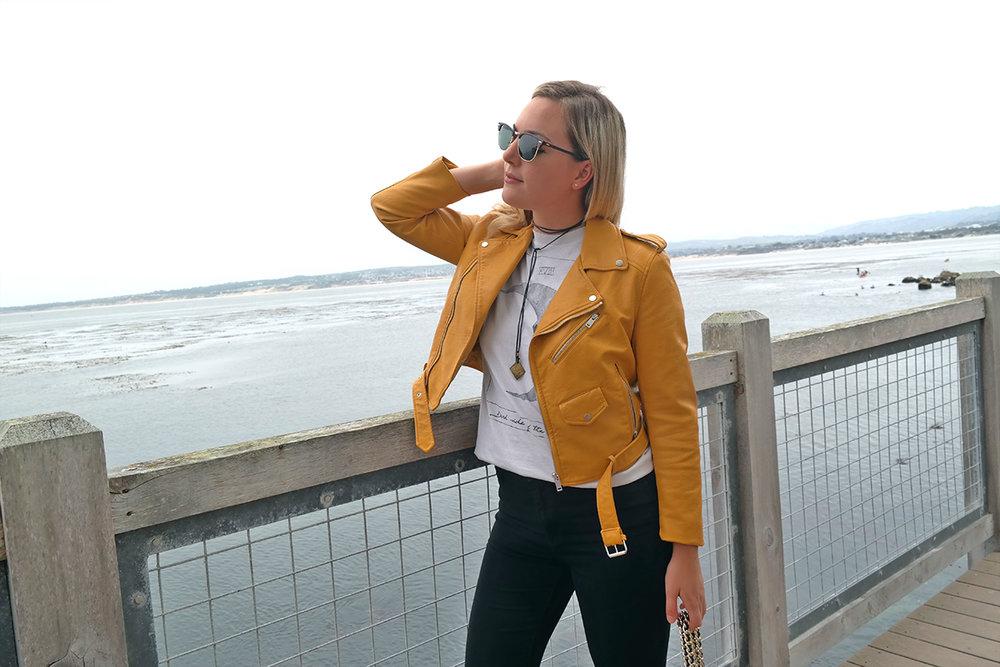 yellow zara jacket black pants faith in style 2.jpg