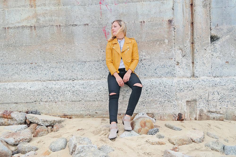 yellow zara jacket black pants faith in style 11.jpg