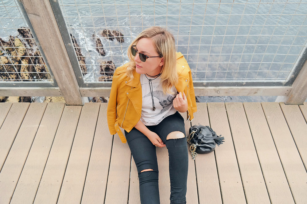 yellow zara jacket black pants faith in style 6.jpg