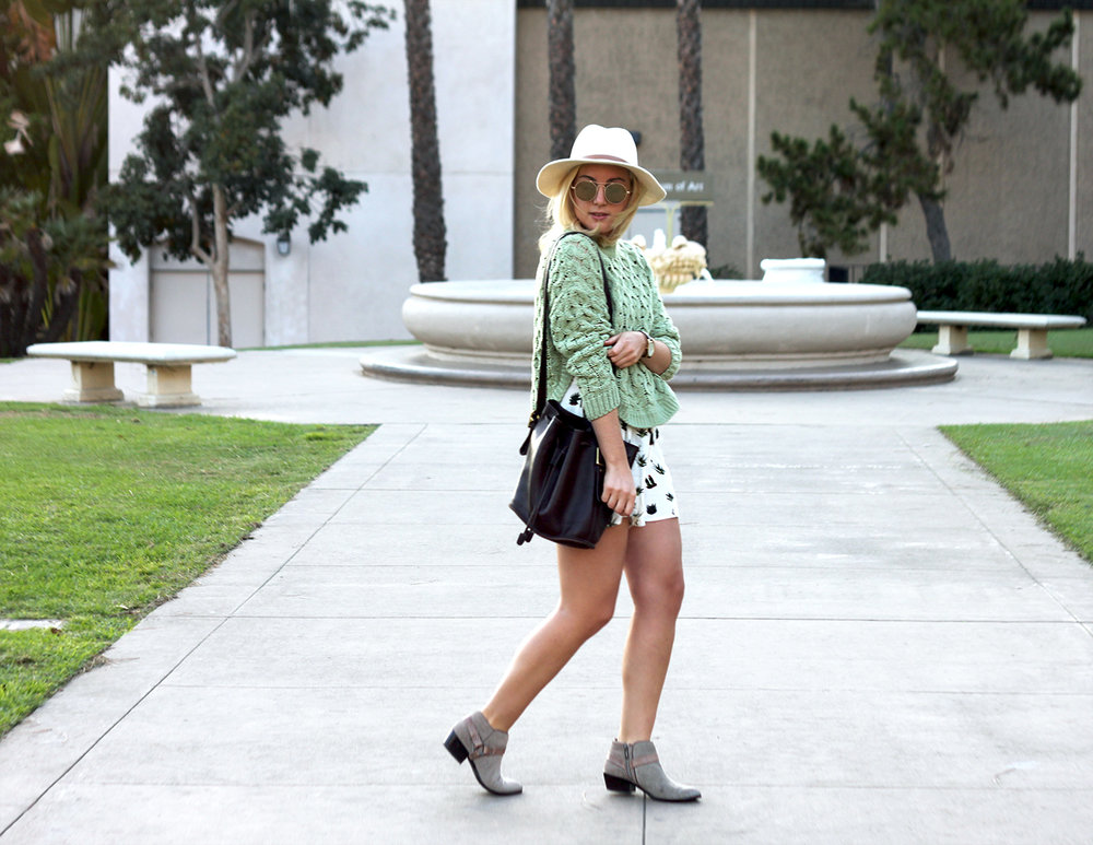 Green Sweater Topshop Shorts Faith in Style 1.jpg