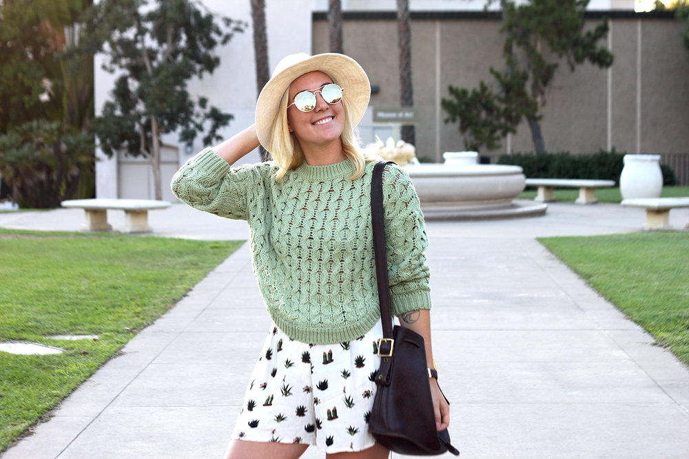 Green Sweater Topshop Shorts Faith in Style 4.jpg
