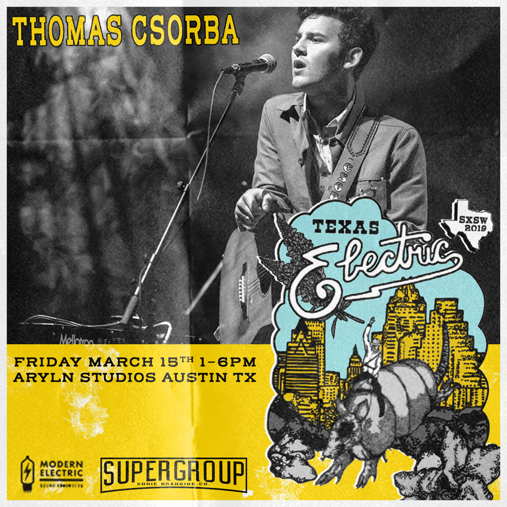 TEAM USA - Thomas Csorba put his nose to the grindstone as a songwriter and performer at a young age, but his releases don't show his youth. In the same tradition as Townes Van Zandt, Woody Guthrie and other lyrical greats, Csorba's songs were written for old souls. His work is mournful, sweet, and beautifully honest. He's a link in a chain of a long tradition of powerful writers, and he's proud to bear that responsibility.