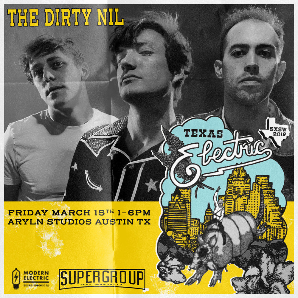 TEAM CANADA - The Dirty Nil play rock and roll. Loud, distorted, and out of control, they play like it's a fever they're trying to sweat out. Reveling in the din of distorted guitars, pounding drums, and desperately howled vocals, the Hamilton Ontario three-piece makes music for turntables and hi-fi's - music for dive bars and house parties - for beer drinking and joint smoking - for road trips and barbecues - for fighting and yelling and shouting and singing and screaming and howling - for sweating and bleeding - trying and failing and trying again anyways. Gravel-in-your guts, spit-in-your-eye, staggering, bloodthirsty rock and roll. They have two 7