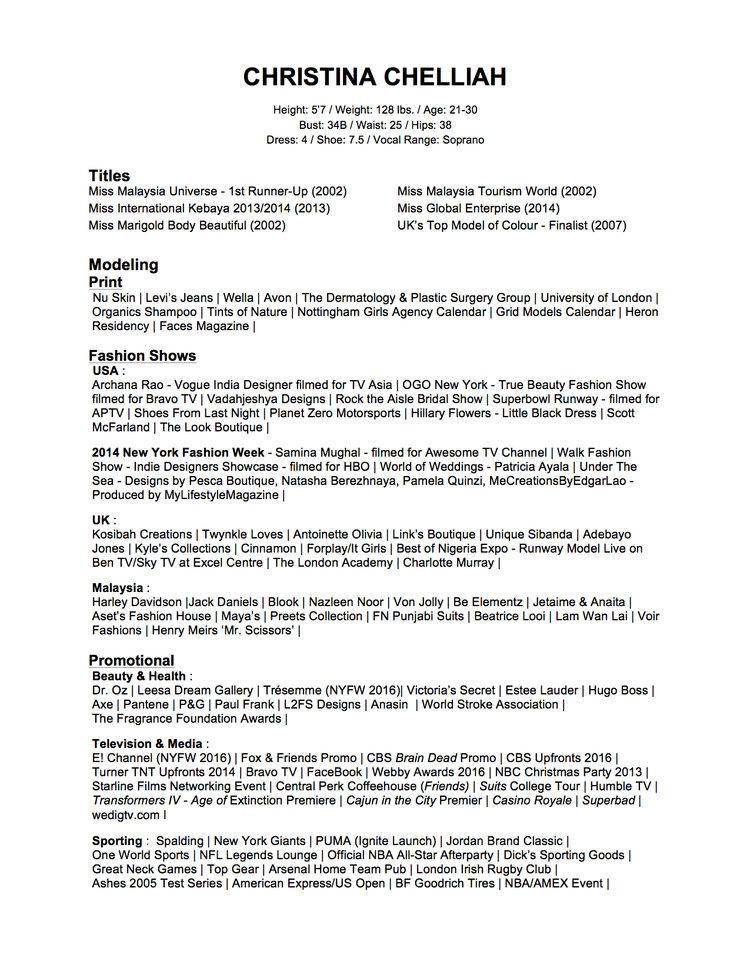 modeling resume download modeling resume template