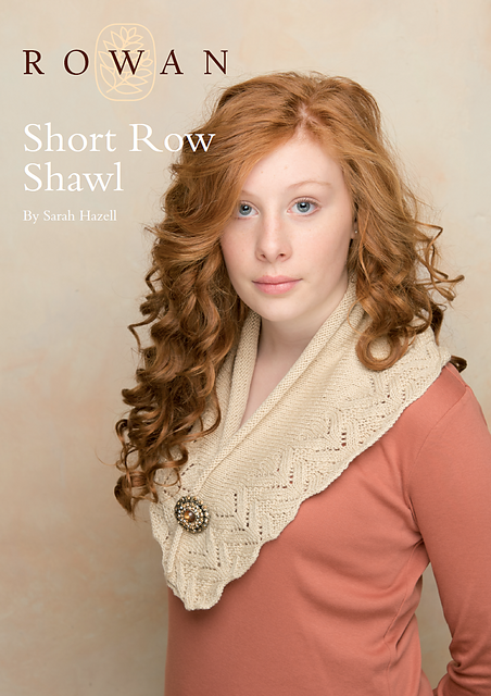 This Short Row Shawl by Sarah Hazell is soft and feminine, and if knit up in our fun colorway it would instantly become sassy and flirty.