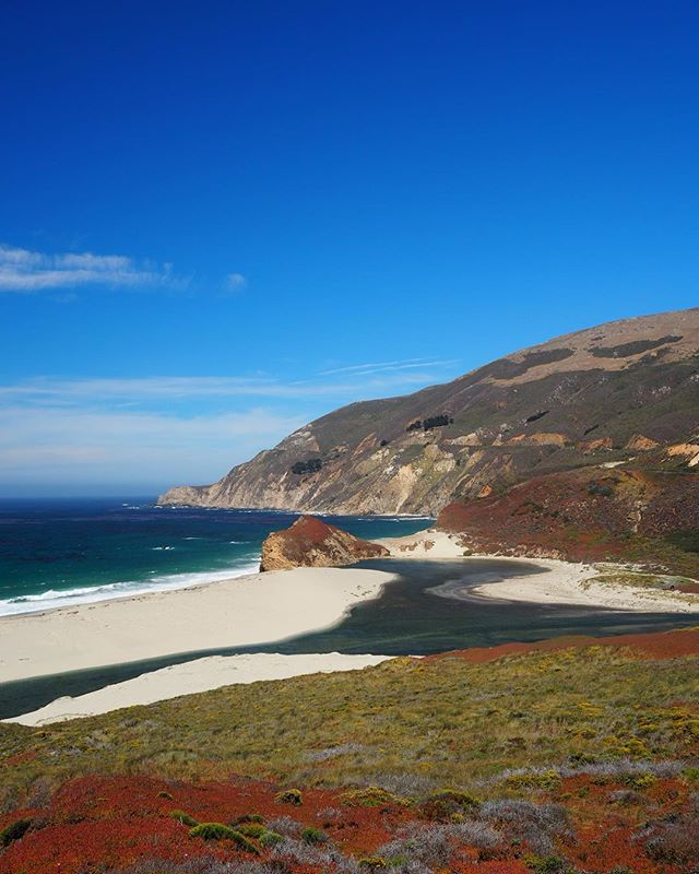 One of Big Sur's less dramatic but more colourful vistas