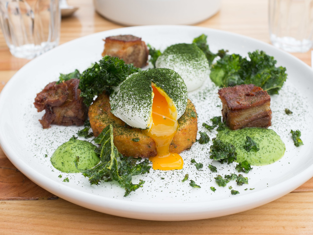 Green eggs and ham dish. IMAGE: Thanh Do
