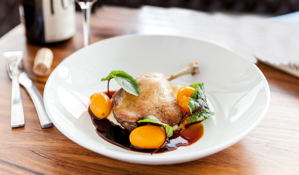 Confit duck at Saint Urban. IMAGE: supplied