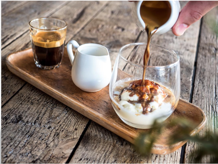 Affogato at Il Melograno, Northcote. IMAGE: supplied.