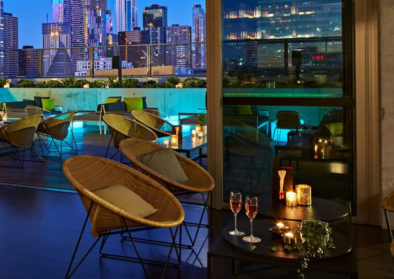 Rooftop bar, QT Melbourne. IMAGE: supplied