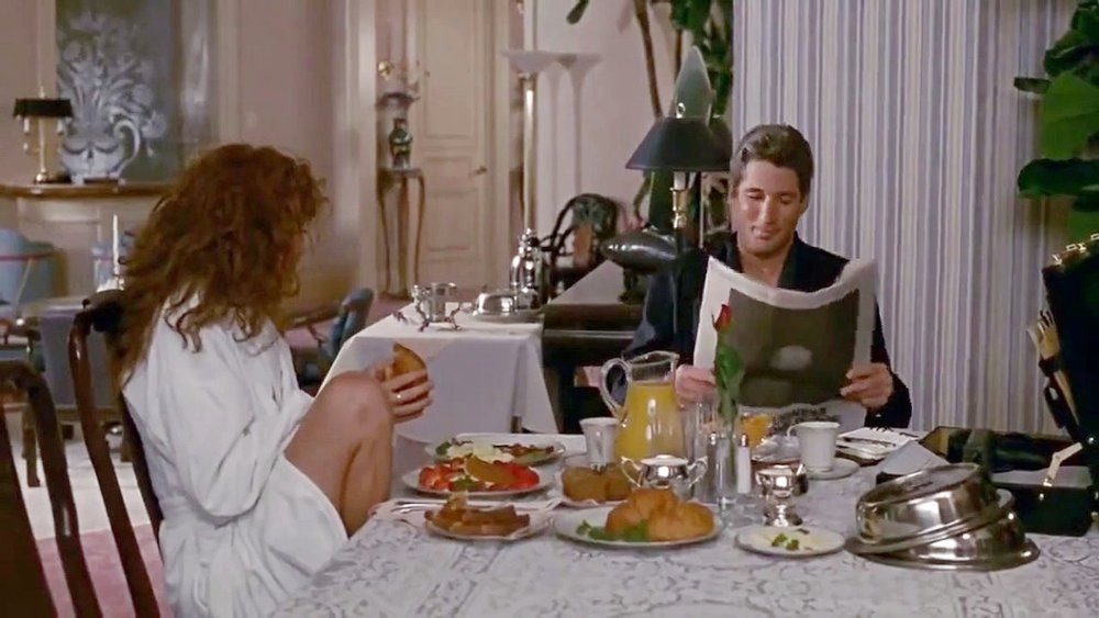 Breakfast scene,  Pretty Woman.  IMAGE: dailymotion.com
