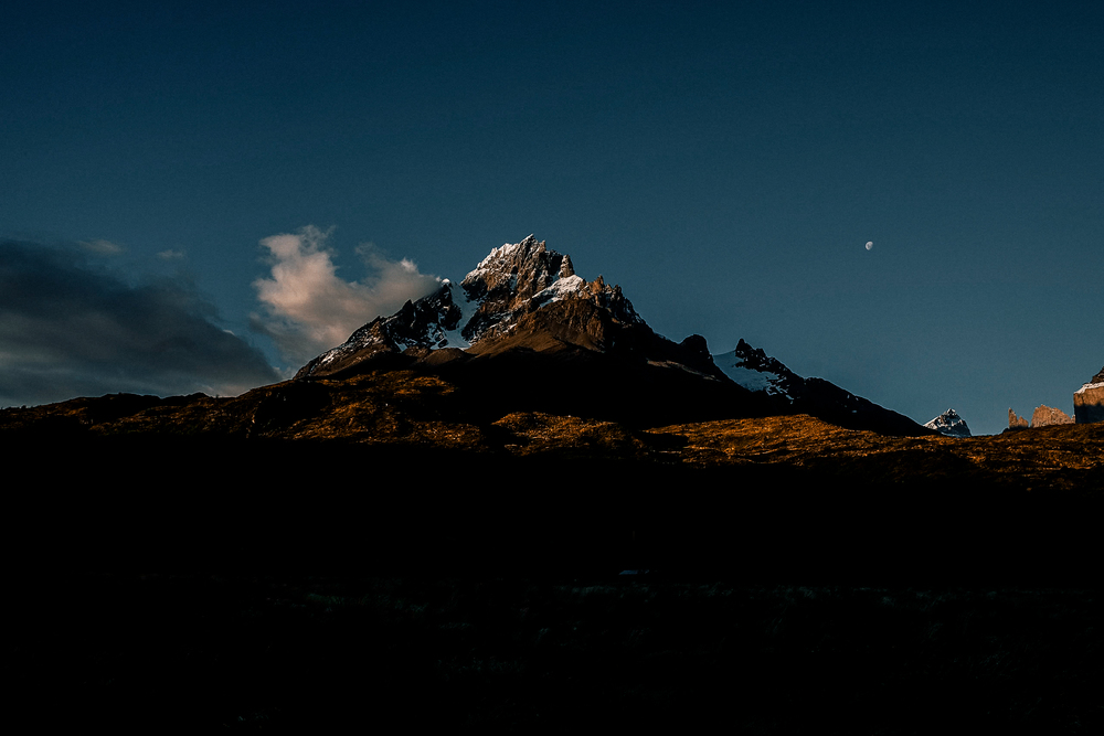 Our first night in Torres Del Paine with an insane view of Punta Bariloche from our campsite.