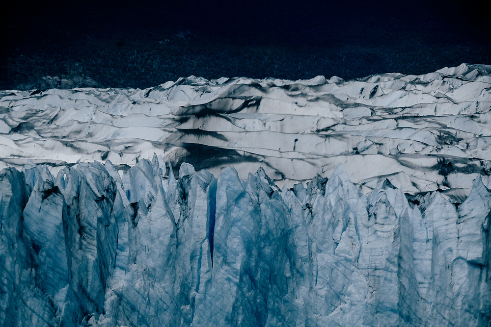The sharp glaciers rising up out of the cold Patagonian waters creating insane natural patterns.