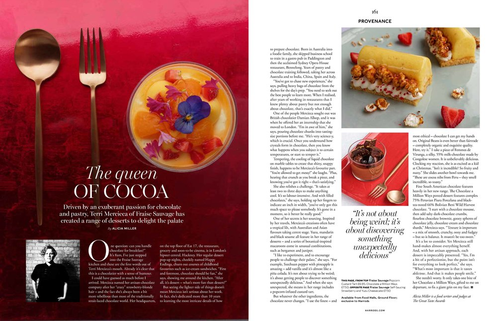 Thank you to Harrods Magazine for the fabulous article in this years November edition and Christmas 2016 liftout.