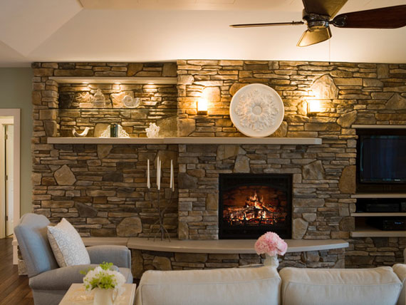 awesome with interior stone wall ideas