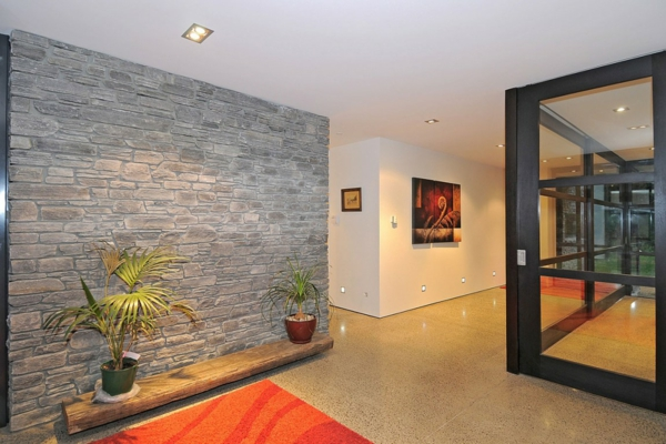 Stone Wall Design rock wall interior design