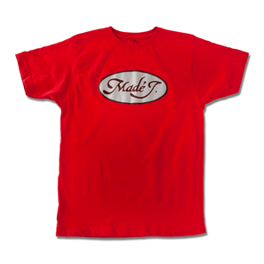 MADÉ J.  LOGO T-SHIRT / ORLANDO KINTERO MEN: M-L-XL / 100% COTTON / RED