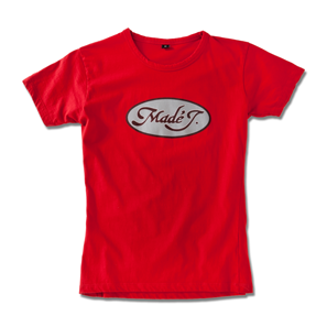 MADÉ J. LOGO T-SHIRT / ORLANDO KINTERO WOMEN: S-M / 100% COTTON / RED