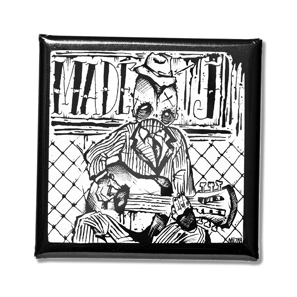 MADÉ J. PSYCHO HOBO BUTTON / MUZAH VAN TRICHT SQUARE SIZE: 38 x 38 MM