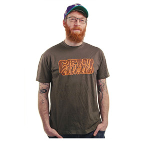 CAPTAIN CHEESEBEARD OFFICIAL LOGO T-SHIRT MEN: M-L-XL-XXL / 100% COTTON / BROWN