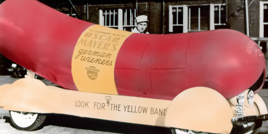 1936 oscar mayer wienermobile (c) ??? colorization, moi