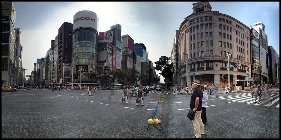 walking along the ginza (c) mark somple 2014