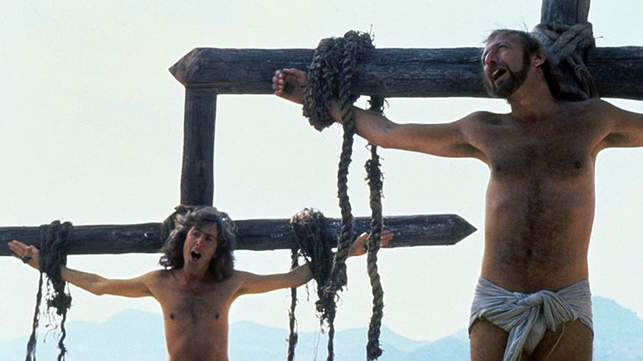 """always look on the bright side of life"" (c) monty python, life of brian movie 19??"