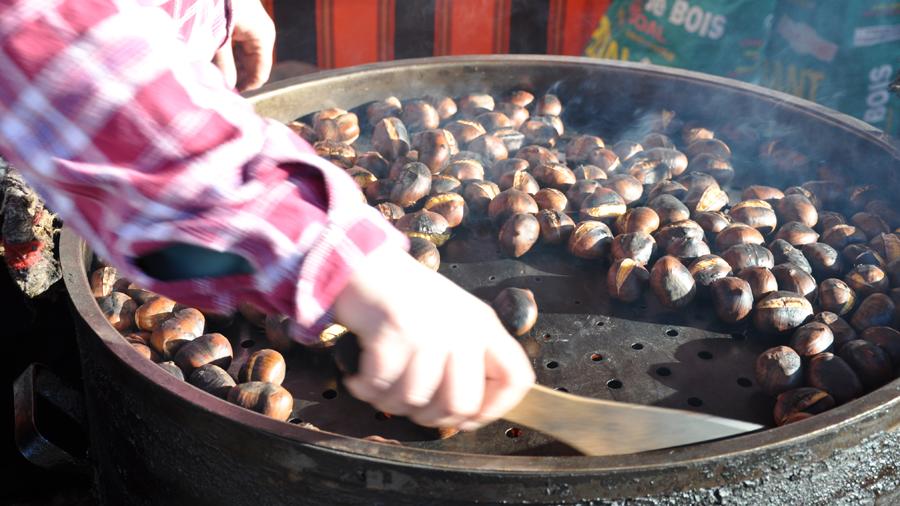 nuts roasting (c) mark somple 2014