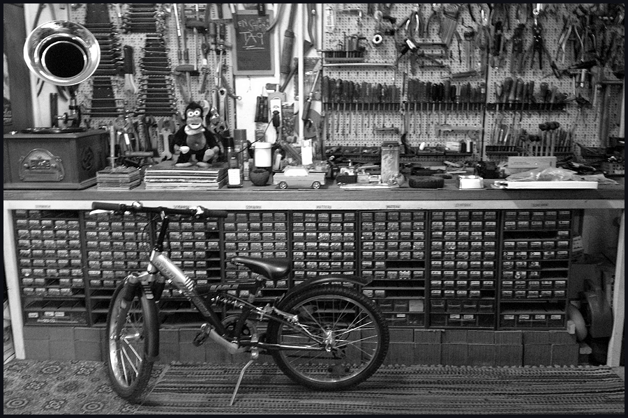 this bike shop image made me smile today (c) mark somple 2015