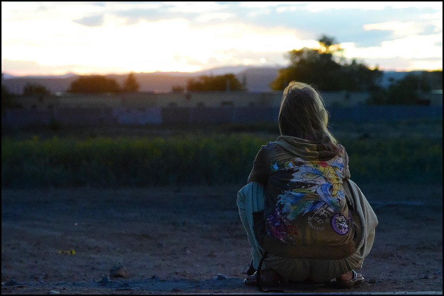 woman watching a sunset that was too beautiful to capture (c) mark somple