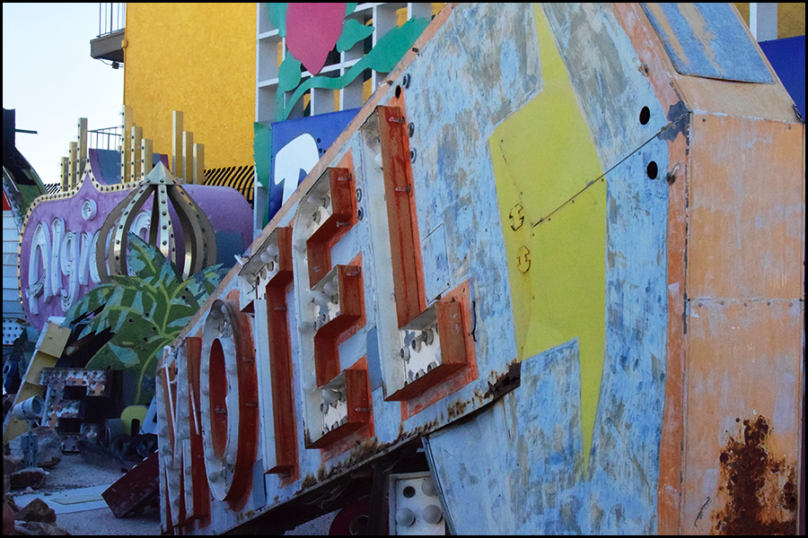 motel sign in a graveyard (c) mark somple 2018