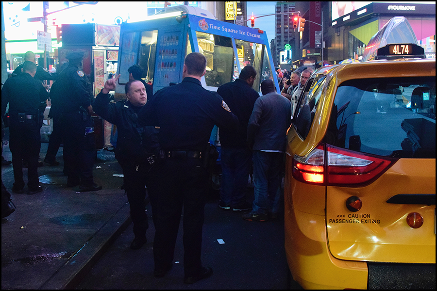 ever see an ice cream truck and a taxi have an accident before? (c) mark somple 2018