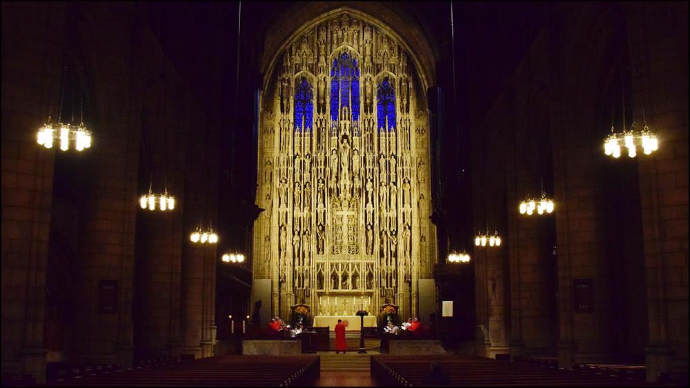testing of 16:9 aspect ratio with a boys choir rehearsing in a church (c) mark somple 2018