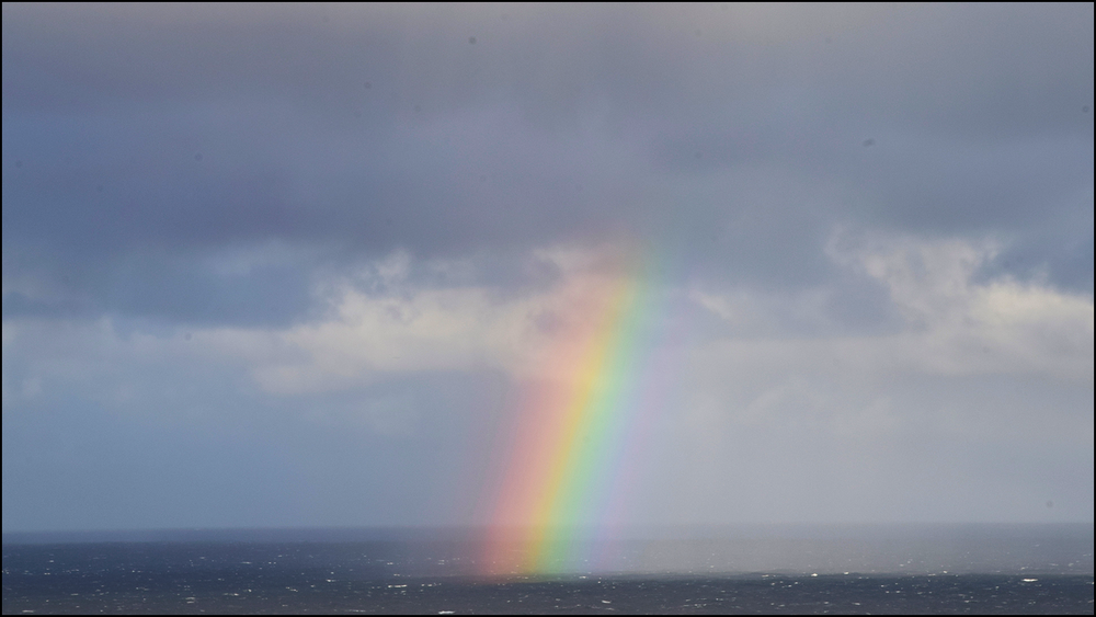"""you can get a lot of flak for asking """"why?"""" and trying to improve. few will see the rainbow. (c) mark somple 2019"""