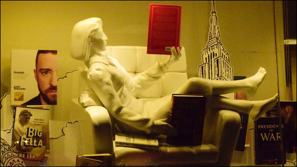 bookstore window display (c) mark somple 2019