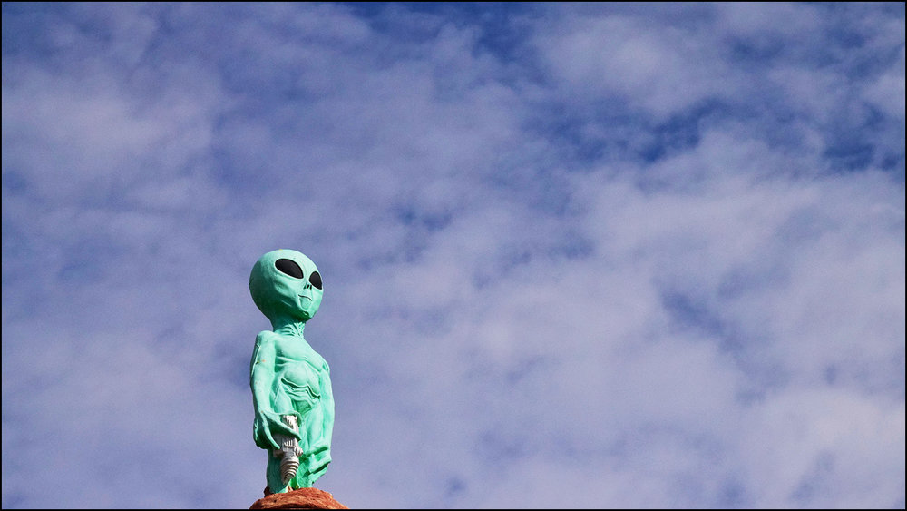 "could not find my irish golf course images…so instead the alien asks, ""are you sure you shot par, not a 9?"" (c) mark somple 2019"