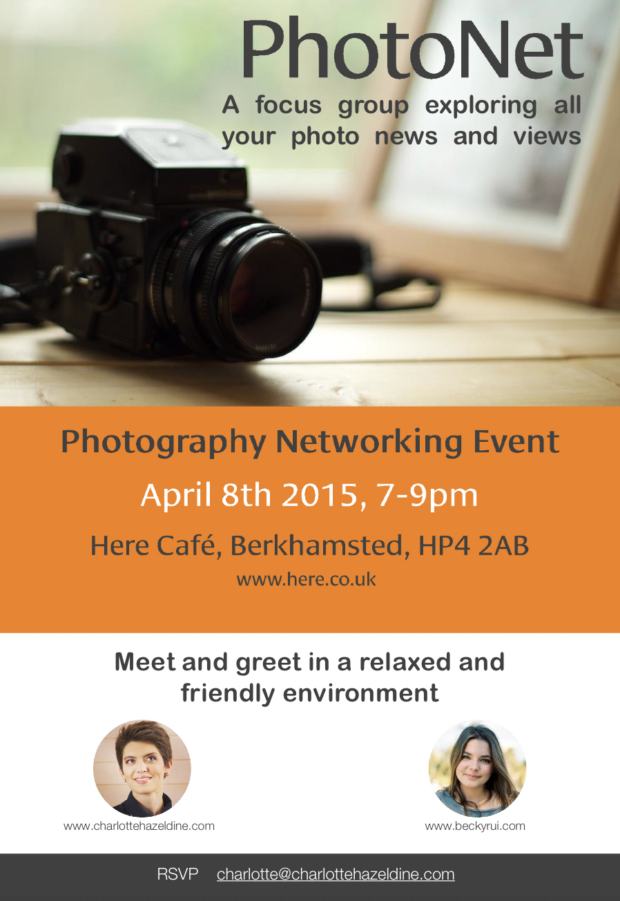 Photonet - Gathering for Professional Photographers with Charlotte Hazeldine and Becky Rui at Here Cafe - Wednesday 8th April 2015