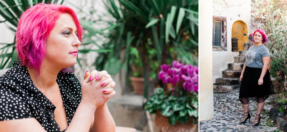 Ellie Burscough Personal Branding Shoot Santorini Becky Rui Australia
