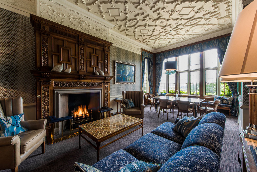 interior photography - Wilton Carpets @ Bovey CAstle, DEVon