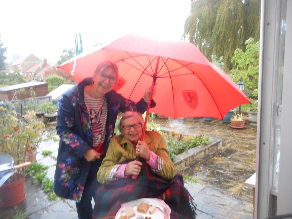 A little bit of rain won't stop us having fun...