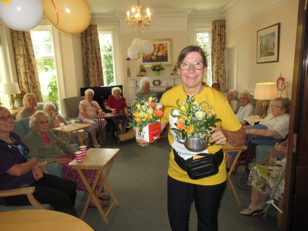 Fundraising for Marie Curie, our residents like to do their bit for charity