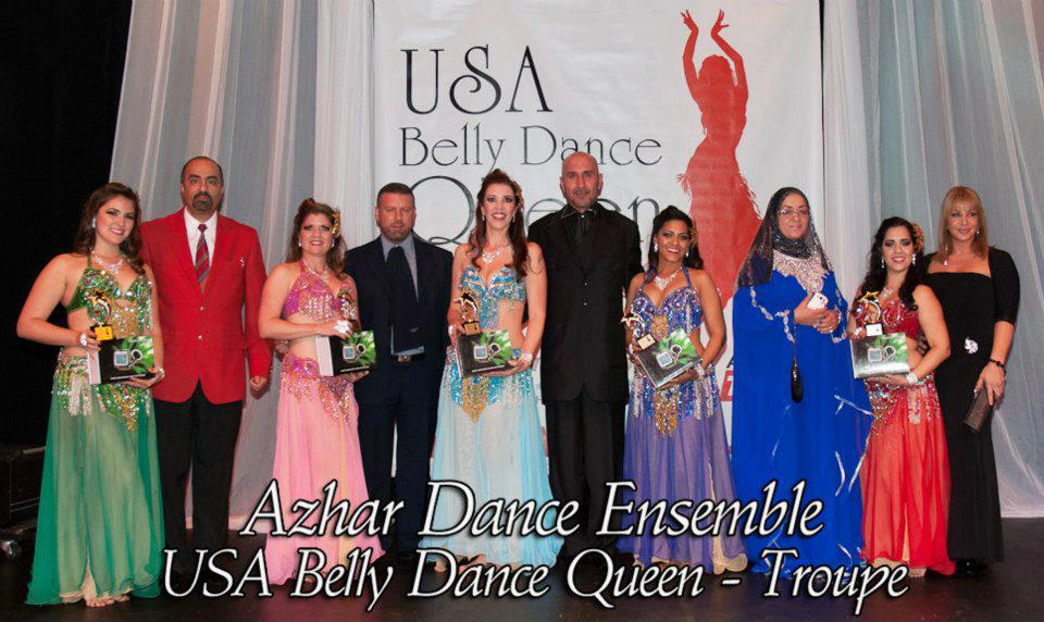 Azhar Dance Ensemble winning 1st place at the 2013 USA Belly Dance Queen Competition