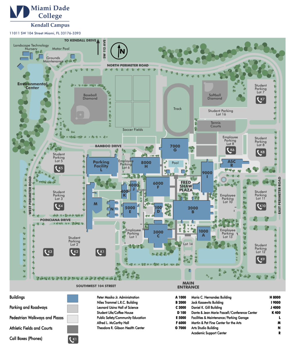 Miami Dade College Kendall Campus Map Miami Dade College Kendall Campus Map | States Maps