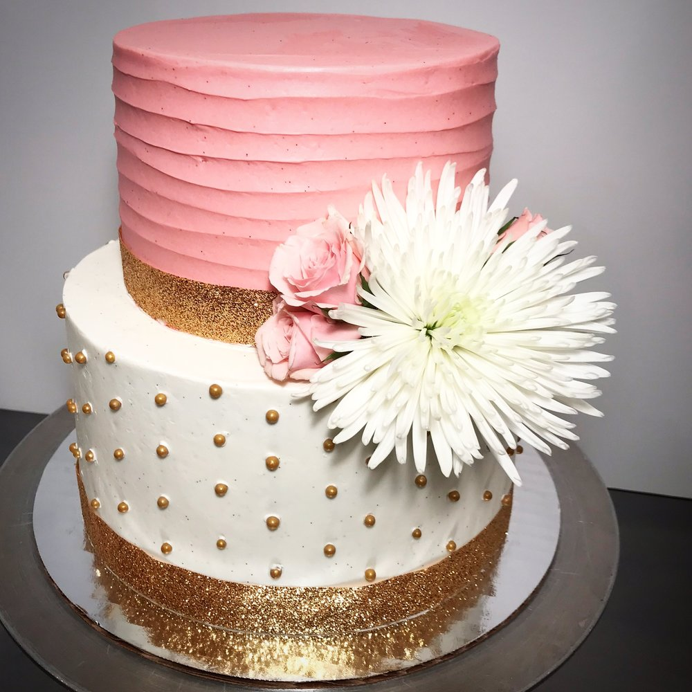 Flower Polka Dot Cake