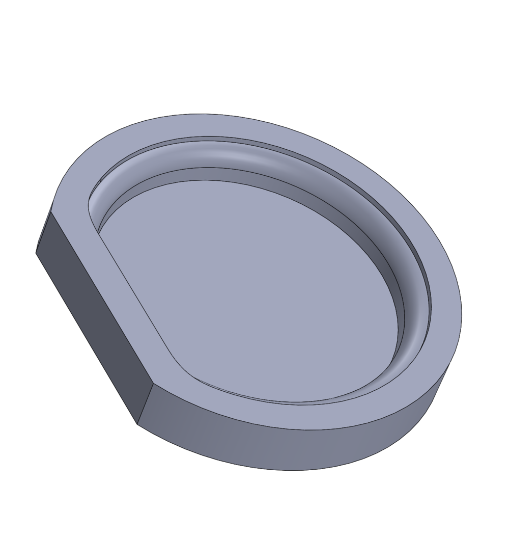 created a simple one-part mold for the concrete base. fingers crossed the SLA material can be poured directly into.