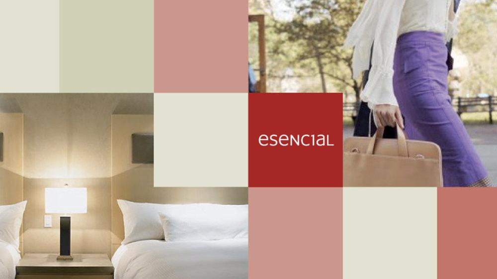 esencial - Creación de una nueva marca para un hotel con una propuesta de valor innovadora en el mercado.