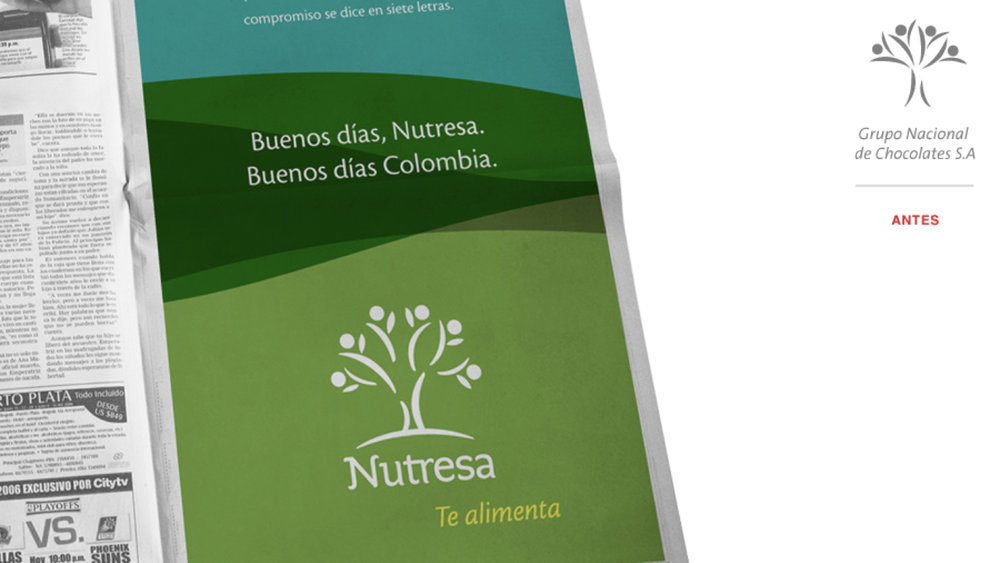 grupo nutresa - Restructuración de un Grupo diversificado de alimentos y bebidas que tenía un nombre limitante para crecer.