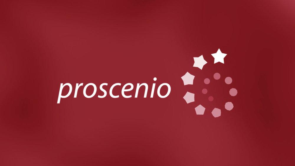 proscenio - Creación de una marca moderna y dinámica para una escuela de comedia musical innovadora.